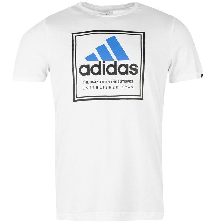 pánské tričko ADIDAS - WHITE BLUE 60c11b5edce