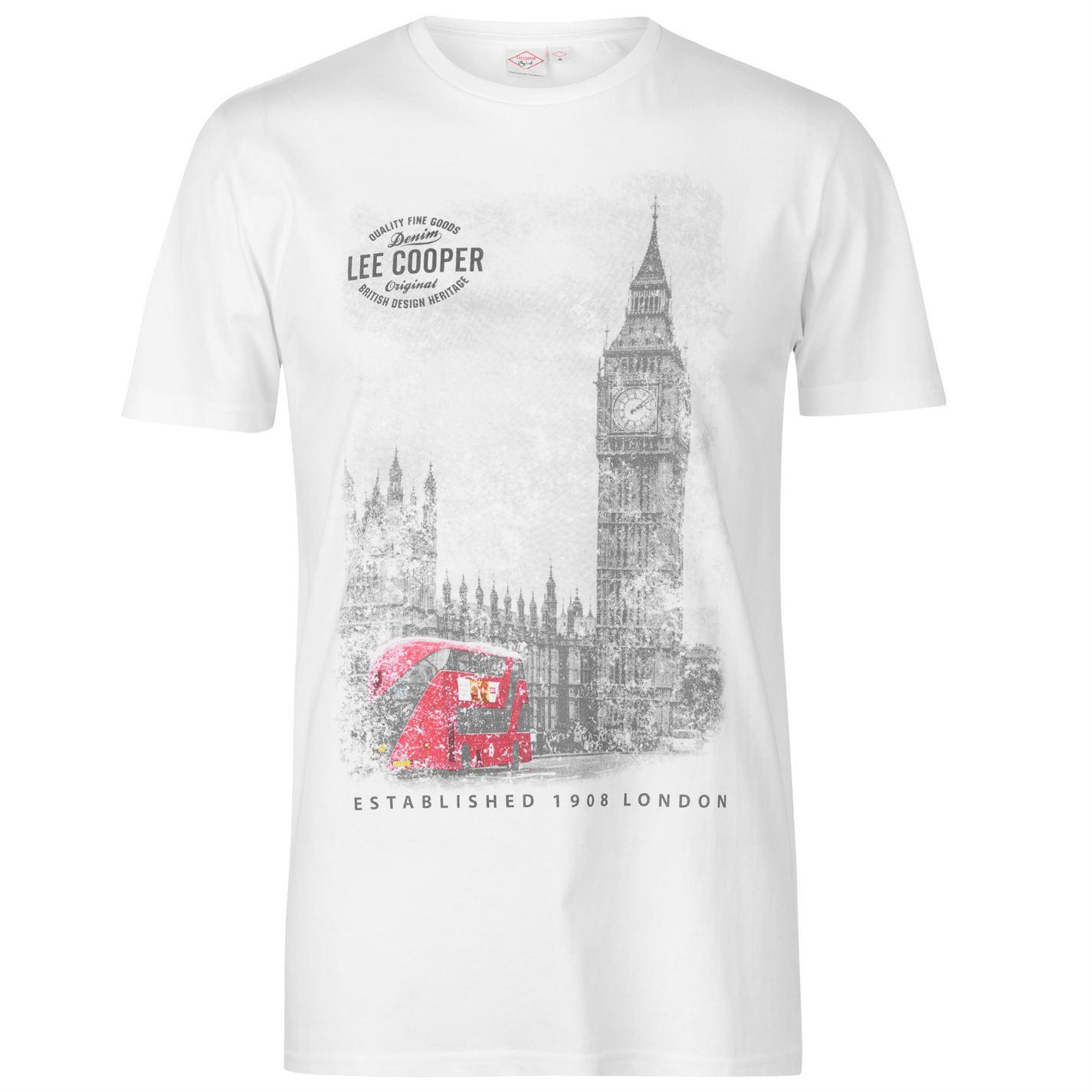 pánské tričko LEE COOPER - WHITE 84773b81b8b