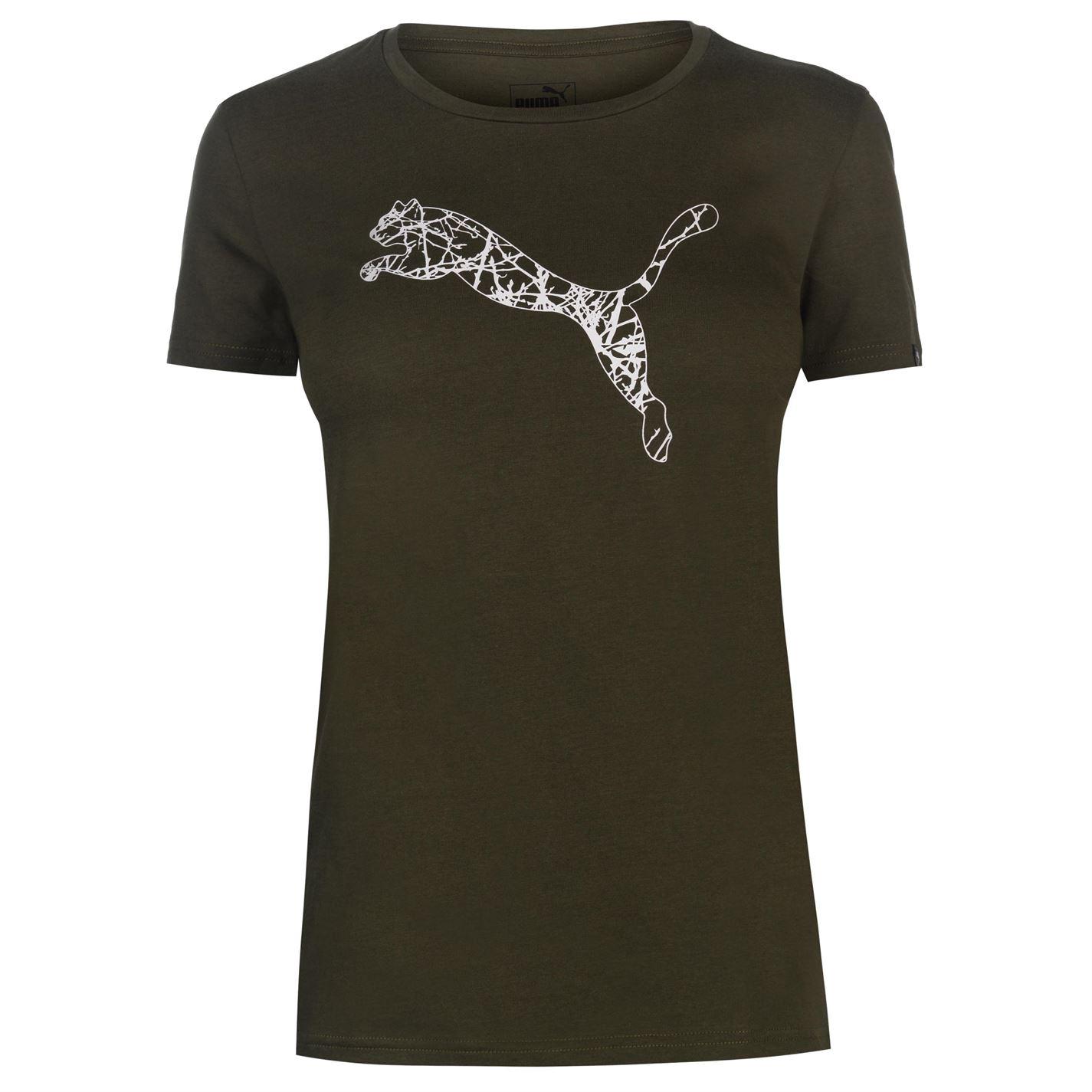 cfae4d546226 dámské tričko PUMA - DK GREEN WHITE - L
