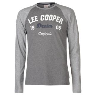 dcbd2e1f9550 pánské tričko LEE COOPER - GREY M CHAR ...