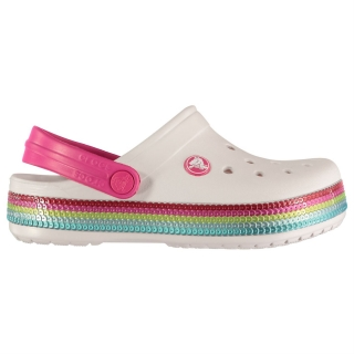 boty CROCS Sequin Band - BARELY PINK