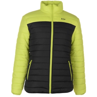 pánská bunda LEE COOPER - BLACK/LIME